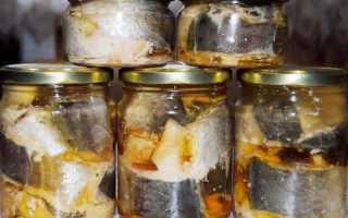 Рыбная консерва домашняя из густеры